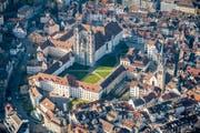 Ausgangspunkt und spirituelles Zentrum der Stadt: Der St.Galler Stiftsbezirk. (Bild: Urs Bucher)
