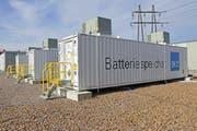 Der Gross-Batteriespeicher in Volketswil liefert 18 Megawatt Maximalleistung. (Bild: PD)
