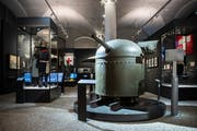 Reduit am Gotthard: Festungsgeschütz aus den Weltkriegen im Landesmuseum in Zürich. (Bild: KEYSTONE/Ennio Leanza)