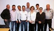 Der Vorstand des HGV Widnau: (von links) Thomas Haas, Kassier, Roland Nufer, Erich Sorell, Aktuar, Alexander Zünd (neu), René Bognar, Präsident, Manuela Rohner (neu), Angela Würth (zurückgetreten), Rosaria Frei und Walter Stalder (zurückgetreten). (Bild: mp)