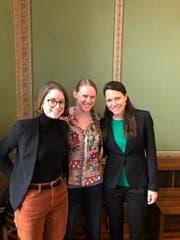 Die Initiantinnen (von links): Isabel Liniger, Anna Spescha und Stéphanie Vuichard. (Bild: PD)