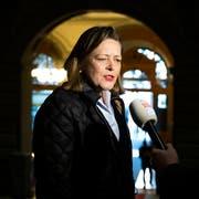 Im letzten Jahr war sie noch Bundesratskandidatin. Jetzt ist Heidi Z'graggen für den rostigen Paragraphen der IG-Freiheit nominiert. (Bild: Peter Klaunzer/Keystone (Bern, 4. Dezember 2018)
