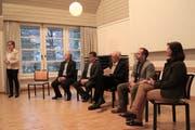 Nahmen am Podum teil (von links): Seppi Hainbuchner, Hansjörg Bucher, Alex Höchli, Ruedi Langenstein und Monika Rüegger (Bild PD)