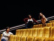 Die Gründerinnen des Mino Collectives: Multiinstrumentalistin Sarah Palin (rechts) sowie die Sängerinnen Brandy Butler (Mitte) und Ella Ronen (links). (Bild: Raffaella Bachmann)