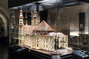 In der kürzlich eröffneten Ausstellung «Gallus und sein Kloster – 1400 Jahre Klostergeschichte» gibt es eine frühe Version der Kathedrale zu besichtigen. (Bild: Hanspeter Schiess)