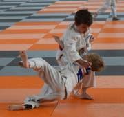 Silvan Tischhauser hatte seine Gegner im Griff und holte sich den Kategoriensieg bei den Schülern D (U9). (Bild: PD)