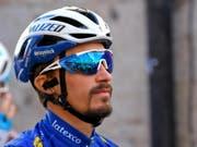 Der Franzose Julian Alaphilippe startete am Donnerstag nicht zur 4. Etappe (Bild: KEYSTONE/EPA ANSA/DARIO BELINGHERI)