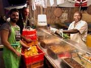 Essensreste werden eingesammelt. (Bild: Facebook Street Food Festival Luzern)