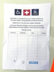 Mit diesem gefälschten Spendenformular waren die Männer in Amriswil unterwegs. (Bild: Kapo TG)