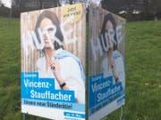 Verunstaltetes Wahlplakat in Flawil. (Bild: pd)
