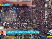 Tausende begleiteten den Sarg des erschossenen Rappers Nipsey Hussle durch Los Angeles. (Bild: KEYSTONE/AP ABC7)