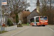 Seit dem Dezember fahren Busse den Bahnhof Steinebrunn an. (Bild: Markus Schoch)