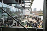 Richtfest im März in Wolfsburg. Dort baut die Nüssli-Gruppe für Volkswagen das neue Eventcenter «Halle 1». (Bild: PD)