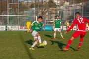 Der SC Brühl hier im Spiel gegen den FC Sion. (Bild: PD)