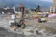 In Ebnat-Kappel sind zurzeit die Umbau- und Erweiterungsarbeiten an der Schulanlage Wier im Gange. Im Jahr 2020 sollen die Gebäude bezugsbereit sein. (Bilder: Urs M. Hemm)