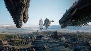 Daenerys Targaryen (Emilia Clarke) und Jon Schnee (Kit Harington) haben sich verbündet. Doch was bleibt, wenn die Schlacht gegen die Armee der Untoten ausgefochten ist? (Bild: HBO)