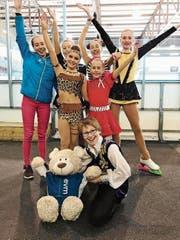 Ein Teil der EVM-Delegation am Säntis Cup in Herisau. (Bild: pd)