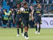 Kleiner Frust bei Juventus: Paulo Dybala & Co. verlieren in Ferrara und sind noch nicht Meister (Bild: KEYSTONE/AP/ANTONIO CALANNI)