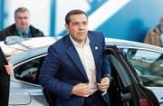 Der griechische Premier Alexis Tsipras will die Hilfskredite für sein Land vorzeitig zurückzahlen. Bild: Alastair Grant/EPA (Brüssel, 10. April 2019)