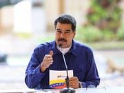 Die USA haben am Freitag weitere Sanktionen gegen Venezuela erlassen, um das Regime um Staatschef Nicolás Maduro weiter zu schwächen. (Bild: KEYSTONE/EPA MIRAFLORES PRESS/PRENSA MIRAFLORES HANDOUT)