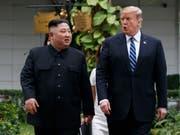 Nordkoreas Machthaber Kim Jong Un will einem dritten Gipfeltreffen mit US-Präsident Donald Trump nicht ausweichen. (Bild: KEYSTONE/AP/EVAN VUCCI)