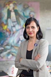 Vania Alleva, Präsidentin der Gewerkschaft Unia, in ihrem Büro in Bern. (Bild: Raphael Hünerfauth (12. April 2019))