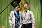 Hanspeter Schuler, der Präsident des Urner Jägervereins, freut sich, dass mit Claudia Schnellmann aus Seedorf erstmals eine Frau im Vorstand mitwirken wird. (Bild: Georg Epp, Altdorf, 12. April 2019)