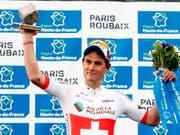 Platz 2 hinter Weltmeister Peter Sagan: Der Aargauer Silvan Dillier war 2018 bei Paris - Roubaix die grosse Überraschung (Bild: KEYSTONE/AP/MICHEL SPINGLER)