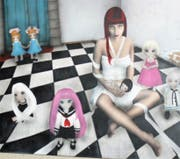 Das Bild «Bianca» des Künstlers Michael Albisser. (Bild: Dieter Ritter)
