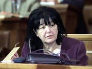 Mira Markovic, oft «Lady Macbeth des Balkans» genannt, ist tot. Sie war die Witwe von Serbiens früherem Staatschef Slobodan Milosevic. (Archivbild aus dem Jahr 2001) (Bild: KEYSTONE/EPA/KOCA SULEJMANOVIC)