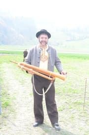 Benjamin Manser mit seinem Büchelhorn.