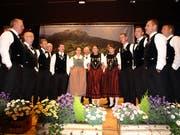 Der Gastklub Edelweiss aus Romoos begeisterte in Hergiswil mit klangvollen Darbietungen. (Bild: Kurt Liembd, 13. April 2019)