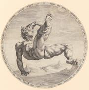 «Der Fall des Ikarus», Kupferstich von Hendrick Goltzius, 1588 (Bild: ETH-Bibliothek Zürich, Graphische Sammlung).
