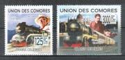 Die Briefmarken mit dem Orient-Express und der Schweizer Lokomotive. (Bild: Günther Klebes)