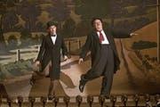 Der Brite Steve Coogan (links) und der Amerikaner John C. Reilly (eben in «The Sisters Brothers» im Kino) als britisch-amerikanisches Komikerduo Laurel und Hardy, bei uns besser bekannt als Dick und Doof.Bild: AP Sony Pictures Classics