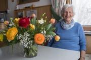 Margrit Niederberger feiert diesen Dienstag den 90. Geburstag. (Bilder: Boris Bürgisser, Wirzweli, 11. April 2019)
