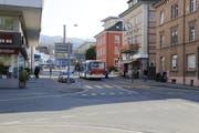 Auf diesem Abschnitt der Signalstrasse herrscht bald Einbahnregime. (Bild: Martin Rechsteiner)