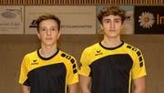 Jan Brand (links) und Valentin Stadler übernehmen die U19-Tabellenführung. (Bild: Michelle Marty)