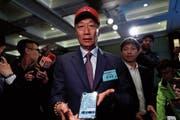 Foxconn-Gründer Terry Gou bei einer Sicherheitskonferenz in Taiwans Hauptstadt Taipeh. (Bild: Ritchie B. Tongo/EPA (16. April 2019))