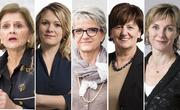 Von links nach rechts: Doris Fiala (FDP), Kathrin Bertschy (GLP), Maya Bally (BDP), Ida Glanzmann (CVP), Maya Graf (Grüne). (Bild: Keystone)