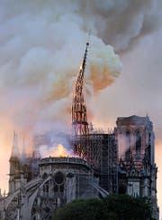 Der Mittelturm brach zusammen. Er sollte renoviert werden. (Bild: Keystone)