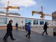 China investiert viel in die Infrastruktur. Dennoch dürfte sich das Wachstum laut OECD langfristig verlangsamen (Themenbild). (Bild: KEYSTONE/AP/NG HAN GUAN)