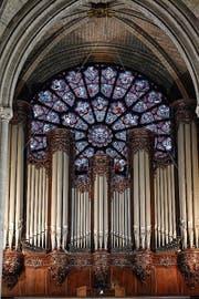 Die Orgel von Notre-Dame hat den Brand überlebt, jedenfalls äusserlich. (Bild: Getty)