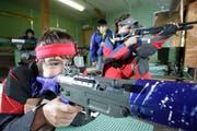 Nachwuchsschützen im Training. (Bild: Donato Caspari)