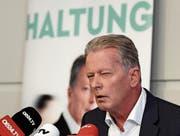 Reinhard Mitterlehner gestern in Wien. (Bild: Hans Klaus Techt/APA)