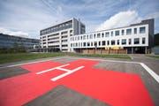 Das Spital Einsiedeln. (Bild: KEYSTONE/Urs Flüeler, 22. September 2018)