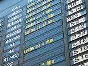 Baustellen und Pannen haben einen Einfluss auf die Pünktlichkeit der Züge. (Bild: Markus Läng/Keystone)