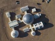 Die Mars-Simulationsbasis C-Space in der Wüste Gobi öffnet für Besucher. (Bild: Keystone/EPA/HOW HWEE YOUNG)