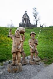 Idealisierter Erinnerungsort: Denkmal der Schlacht bei Morgarten. Bild: Manuela Jans-Koch (Morgarten, 13. April 2019)