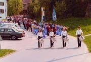 Bereits 1982 fand das Blasmusikfest in Altishofen statt. (Bild: PD)
